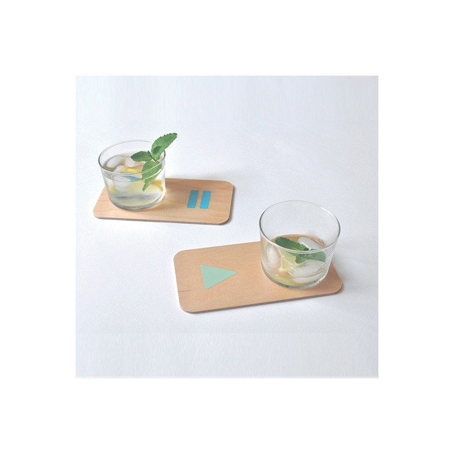4 PARTY MOOD coasters