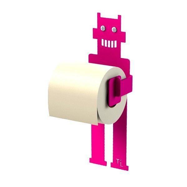 ROBOT TROBO toilet roll holder by Thomas de Lussac