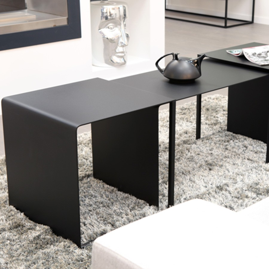 Table basse - table d\'appoint EYE TO EYE noir - Darwin\'s Home