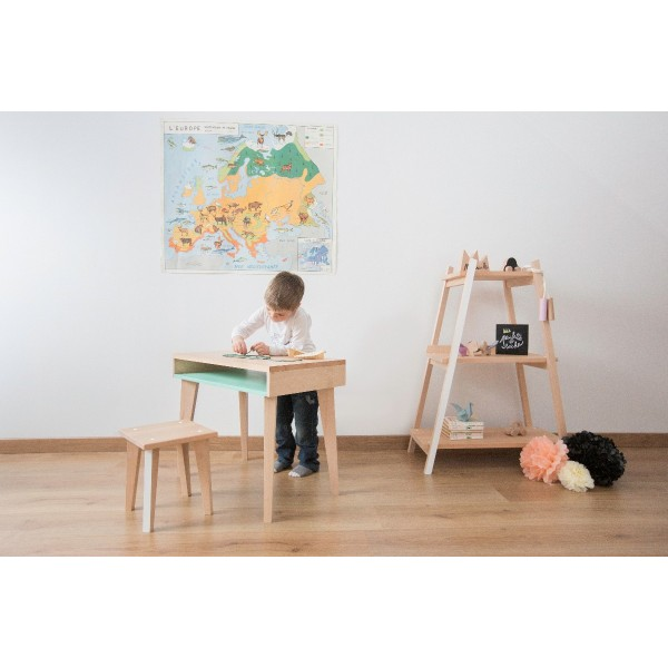 Children's stool POINT-VIRGULE by Paulette & Sacha