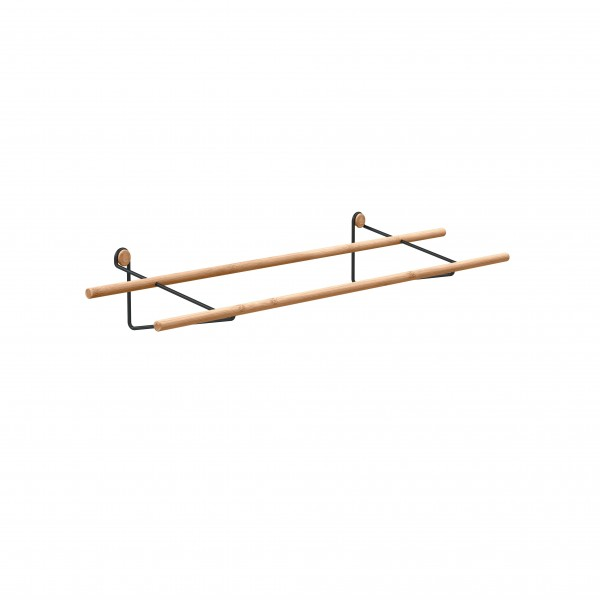 Shoe rack LOOP (black steel or brass) by WE DO WOOD