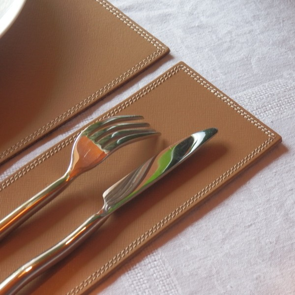 Leather PLACEMAT  (various sizes and colours) by  Midipy