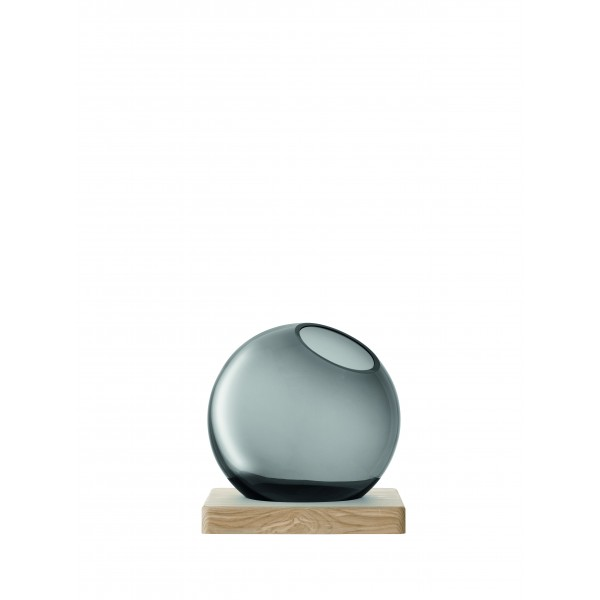 AXIS grey glass vase and ash base by LSA