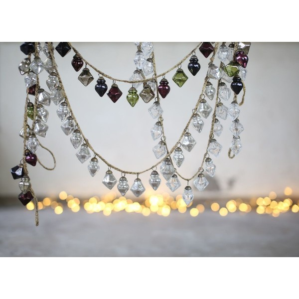 Bauble garland by Nkuku