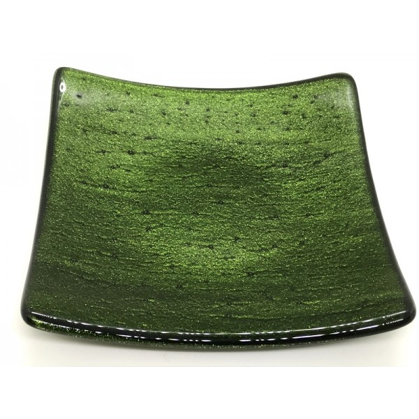 AVENTURINE platter by Giddy Glass
