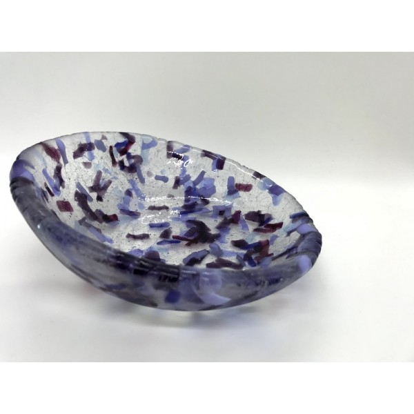 ECCENTRIC glass bowl by Giddy Glass